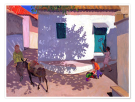 Poster Premium  Green Door and Shadows, Lesbos, 1996 - Andrew Macara