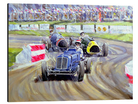 Stampa su alluminio  The First Race at the Goodwood Revival, 1998 - Clive Metcalfe