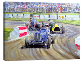 Stampa su tela  The First Race at the Goodwood Revival, 1998 - Clive Metcalfe