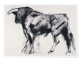 Poster  Bull - Mark Adlington