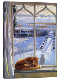 Stampa su tela  Cat in the Window - Timothy Easton