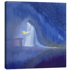Tela  The Virgin Mary cared for her child Jesus with simplicity and joy, 1997 - Elizabeth Wang