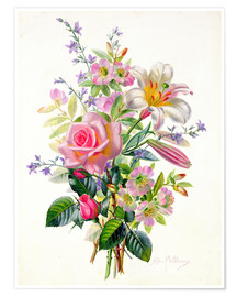 Poster  A Pink Bouquet - Albert Williams