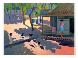 Poster Premium  Hens and Chickens, Cuba, 1997 - Andrew Macara
