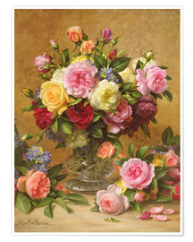 Poster Premium  Victorian Roses - Albert Williams
