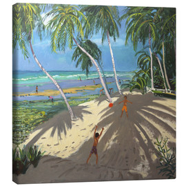 Stampa su tela  Palm trees, Clovelly beach, Barbados - Andrew Macara