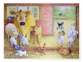 Poster  Farm Animals - Pat Scott