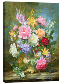 Stampa su tela  Peonies and mixed flowers - Albert Williams