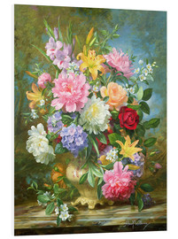 Stampa su schiuma dura  Peonies and mixed flowers - Albert Williams