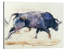 Stampa su alluminio  Galloping bull - Mark Adlington