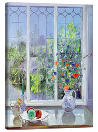 Stampa su tela  Still life in the window - Timothy Easton