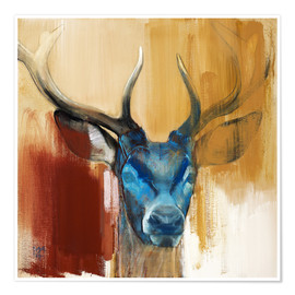Poster  Head of a deer - Mark Adlington