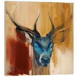 Stampa su legno  Head of a deer - Mark Adlington