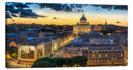 Stampa su tela  Roma St. Peters dome - FineArt Panorama