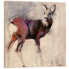 Legno  Shy deer in the snow - Mark Adlington