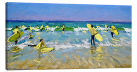 Stampa su tela  Surf School at St. Ives - Andrew Macara
