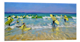 Stampa su PVC  Surf School at St. Ives - Andrew Macara