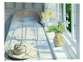 Stampa su vetro acrilico  Still life in front of the window - Timothy Easton