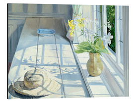 Stampa su alluminio  Still life in front of the window - Timothy Easton