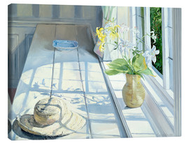 Stampa su tela  Still life in front of the window - Timothy Easton