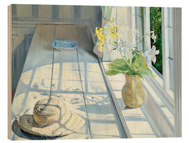 Stampa su legno  Still life in front of the window - Timothy Easton