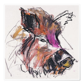 Poster  Wild boar - Mark Adlington
