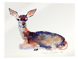 Stampa su vetro acrilico  Lying deer - Mark Adlington