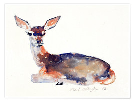 Poster  Lying deer - Mark Adlington
