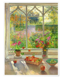 Poster  Overlooking the garden - Timothy Easton