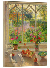 Stampa su legno  Overlooking the garden - Timothy Easton