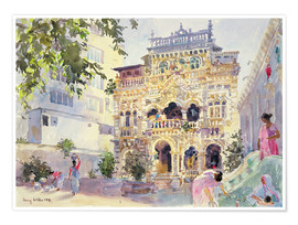 Poster Premium  House on the Hill, Bombay - Lucy Willis