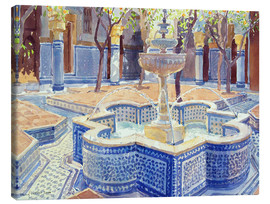 Stampa su tela  The blue fountain - Lucy Willis