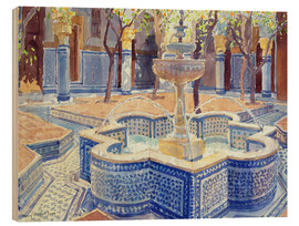 Stampa su legno  The blue fountain - Lucy Willis