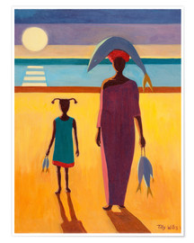 Poster Premium  Woman with Fish - Tilly Willis