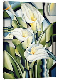 Tela  Cubist lilies - Catherine Abel