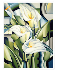 Poster Premium  Cubist lilies - Catherine Abel
