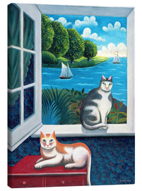 Stampa su tela  Cats and Sea - Jerzy Marek