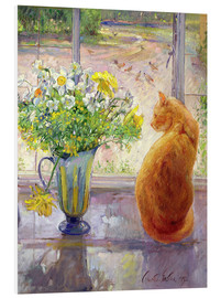 Schiuma dura  Cat with Flowers in the window - Timothy Easton