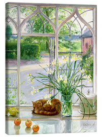 Tela  Sleeping cat in the window - Timothy Easton