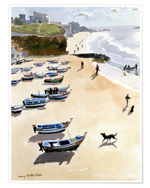 Poster Premium  Boats on the Beach - Lucy Willis