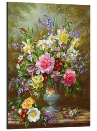 Alluminio Dibond  Bluebells, daffodils, primroses and peonies - Albert Williams
