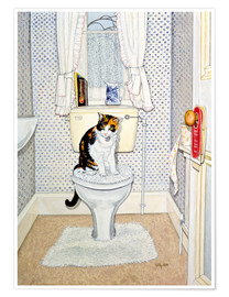 Poster Premium  Cat on the Loo - Ditz