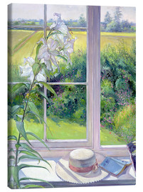 Stampa su tela  Reading corner in the window, detail - Timothy Easton