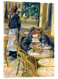 Vetro acrilico  Lovers in August, Paris - Rosemary Lowndes