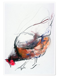Poster  Chicken during feeding - Mark Adlington