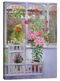 Stampa su tela  In the winter garden - Timothy Easton