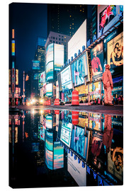 Stampa su tela  Broadway, Times Square by night - Sascha Kilmer