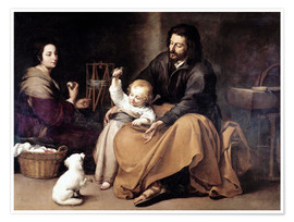 Poster Premium  The Holy Family with the Little Bird - Bartolome Esteban Murillo