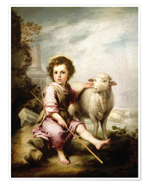Poster  The Good Shepherd - Bartolome Esteban Murillo