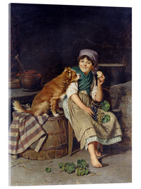 Stampa su vetro acrilico  Girl with Dog - Federico Mazzotta